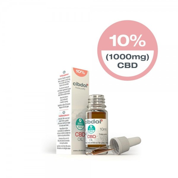 Cibdol CBD Oil Olive oil 10% (10ml) 1000mg