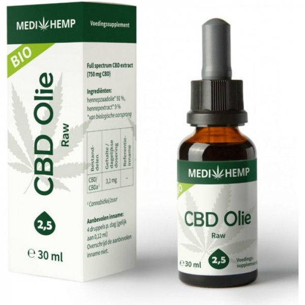 Medihemp Pure CBD Oil 2.5% (30ml)